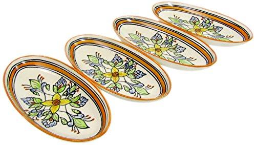 Le Souk Ceramique SL15 Stoneware Small Oval Platters Set of 4 Salvena