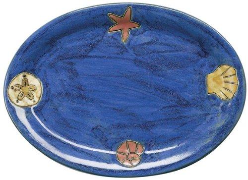 Mara Ceramic Stoneware 13 Inch Sea Shell Small Oval Platter