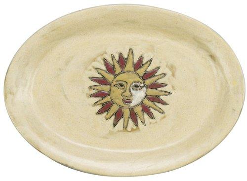 Mara Ceramic Stoneware 13 Inch Suns Small Oval Platter