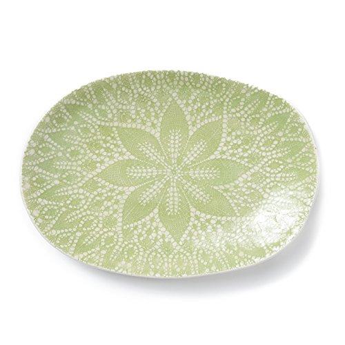 Viva Lace Small Oval Platter - Pistachio