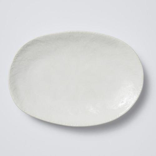 Viva Lace Small Oval Platter - White