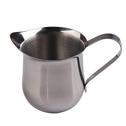 Awakingdemi Stainless Steel Coffee Shop Small Milk Cream Waist Shape Cup Jug 5OZ150ml