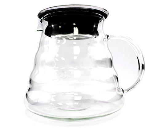 800ml glass pour over coffee carafe high quality 800ml pour over glass carafe