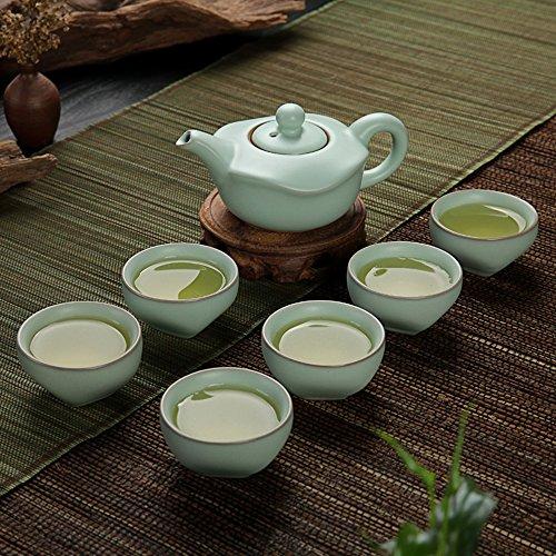 Eternal Chinese Celadon Gongfu Tea SetIce Crack Porcelain Teapot Teacup Ceramic Kung Fu Tea Set