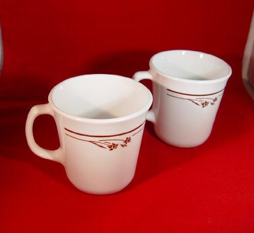 Corelle Corning Ware Melody Pattern Coffee Mugs Cups Set of 2
