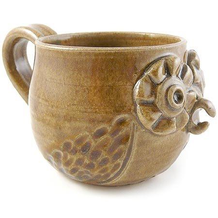 American Made Retro Owl Mug - Handmade Stoneware Pottery 14 oz