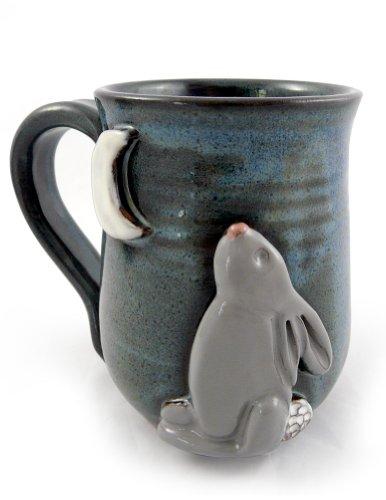 Bunny Moon Mug - American Handmade Stoneware Pottery 14 oz