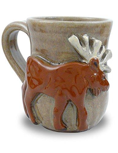 Moose Mug - American Handmade Stoneware Pottery 14 oz