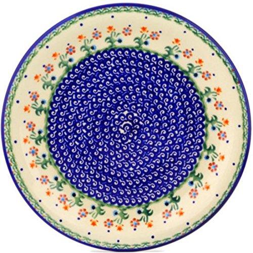 Polish Pottery 110D19 Boleslawiec Stoneware Pottery Plate 11-Inch Blue