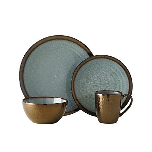 Anastasia Blue Stoneware 16-piece Dinnerware Set
