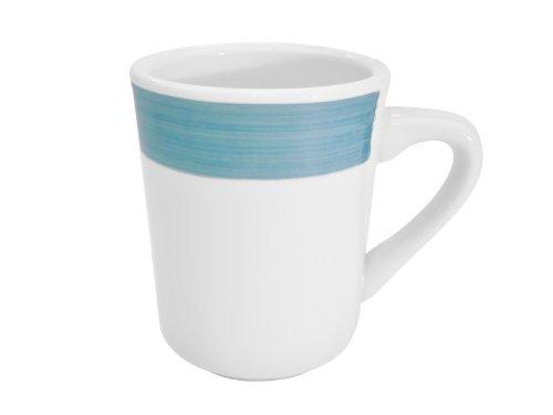 CAC China R-17-BLUE Rainbow 3-14-Inch Blue Stoneware Tierra Mug 85-Ounce Box of 36