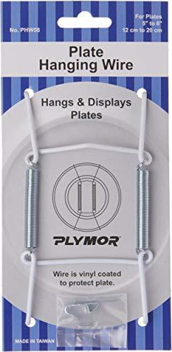 Plymor White Vinyl Finish Wall Mountable Plate Hanger 4625 H x 25 W x 05 D for Plates 5 - 8