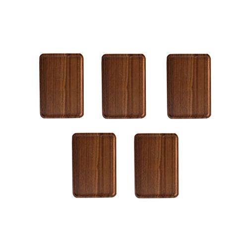 Homyl Wooden Serving Tray Plate Tea Food Platter Home Decoration Plain Plates L 5x