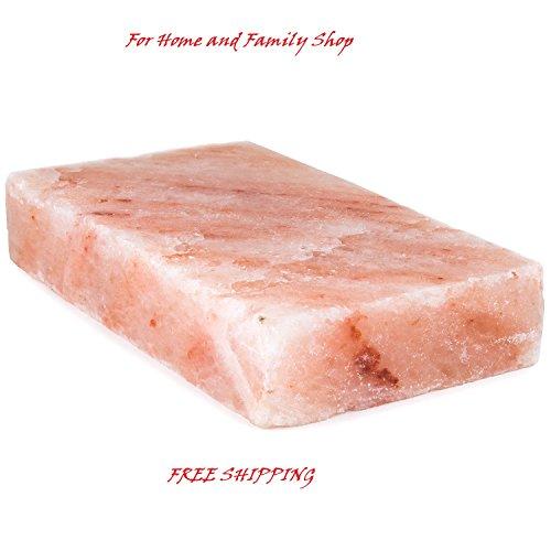 12 x 8 x 2 Natural Himalayan Block Cooking Salt Plate Holder Set