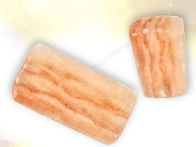 "Set of Two Authentic 4"" X 8"" X 2"" Foot Detox Himalayan Salt Blocks - Ionic Foot Plates"