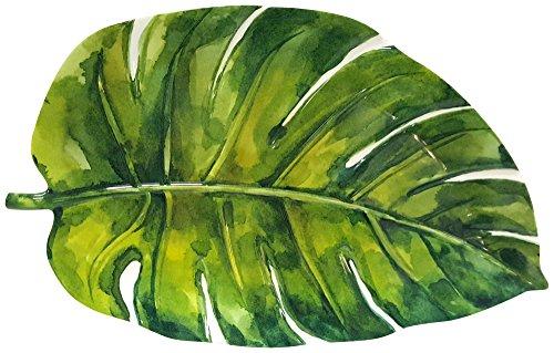 Coastal Home Palm Leaf Oblong Platter One Size Green