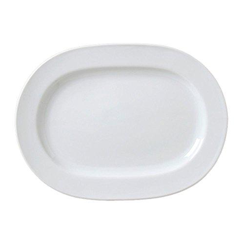 Vertex China ARG-94 Argyle and Catalina Oblong Platter 13 x 9-12 Porcelain White Pack of 12