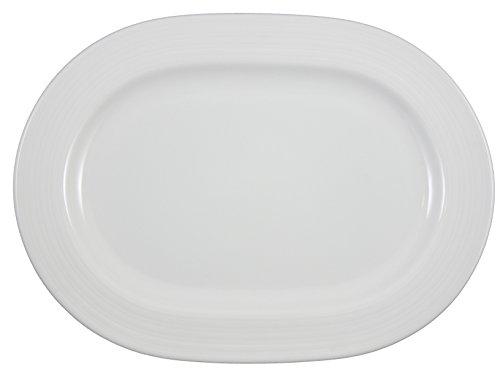 Vertex China CB-94 Crystal Bay Oblong Platter 13 Bright White Pack of 12