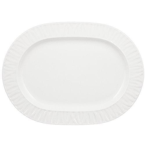 Vertex China GV-93 Grass Valley Oblong Platter 11-38 Bright White Pack of 12