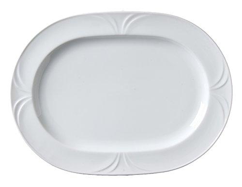 Vertex China PA-93 Palm Oblong Platter 11-38 Bright White Pack of 12