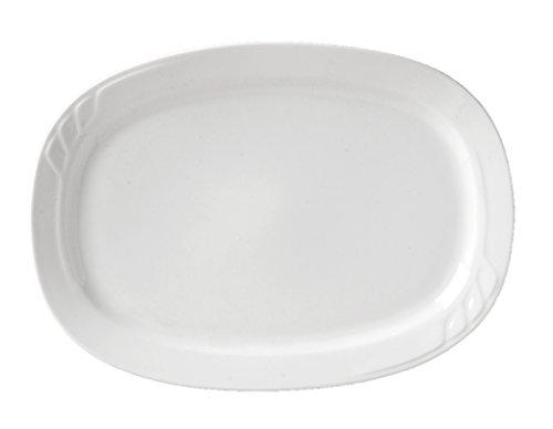 Vertex China SAU-13 Sausalito Oblong Platter 11-34 x 8-12 Bone White Pack of 12