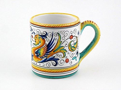 Hand Painted Italian Ceramic Mug Raffaellesco - Handmade in Deruta