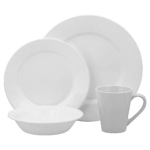 Corelle Lifestyles Shimmering White Round 16-pc Dinnerware Set