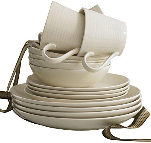 Gordon Ramsay Maze by Royal Doulton 16-pc Dinnerware Set White