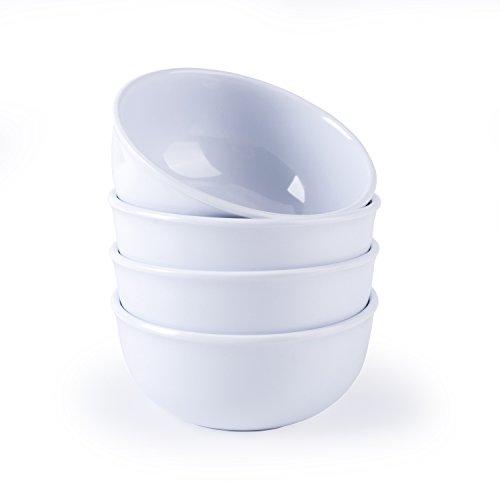 Hware 4 Pcs Dinnerware 45 Melamine soup bowlsWhite9 Ounce