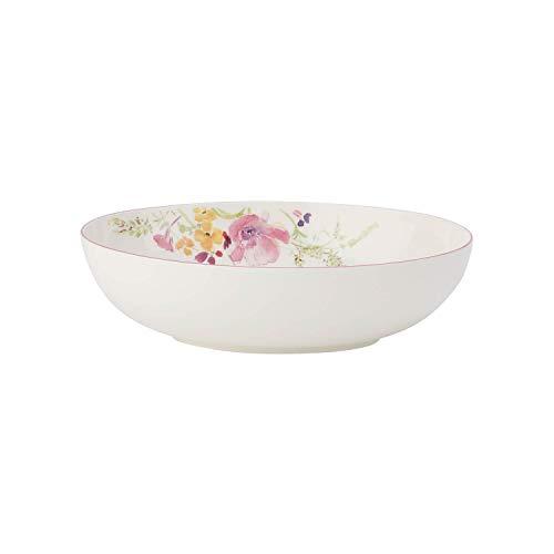 Villeroy Boch Mariefleur Basic Oval Serving Bowl 26 cm Premium Porcelain WhiteMulticoloured