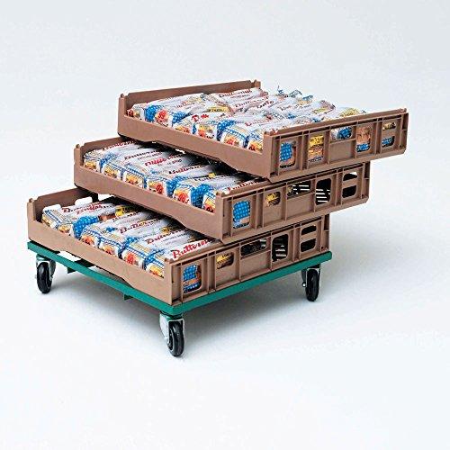 Buckhorn Beige Plastic Stackable Bread Tray - 26L x 29W x 6 18W
