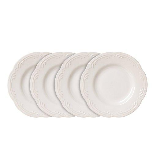 Pfaltzgraff Filigree Bread and Butter or Dessert Plates 6-14-Inch Set of 4 White