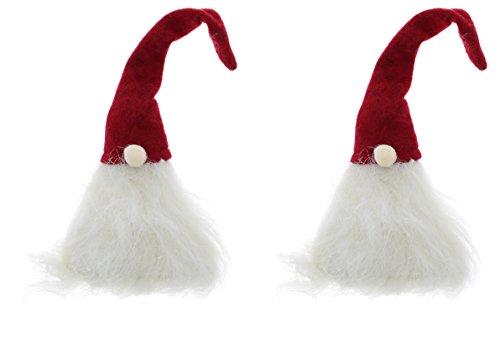 Bright Ideas Santa Gnome Decorative Wine Bottle Topper 2Pcs