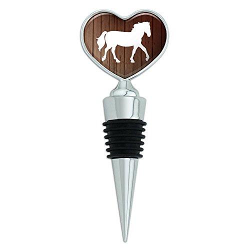 Horse Silhouette Cowboy Western Heart Love Wine Bottle Stopper