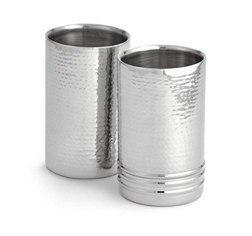 Artisan Set of 2 Tabletop Stainless Steel Wine Bottle ChillerCoolers