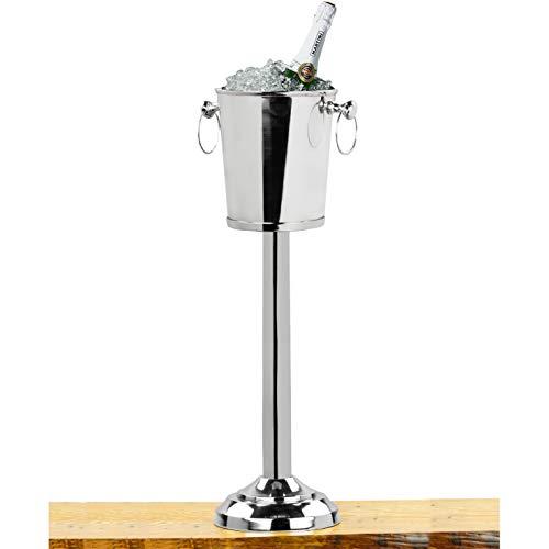 Nickel Plated Premium Aluminum Free Standing Wine Chiller  Wine Coolers Cellar With Ice Bucket  Kitchen Bar Wares  Nagina International