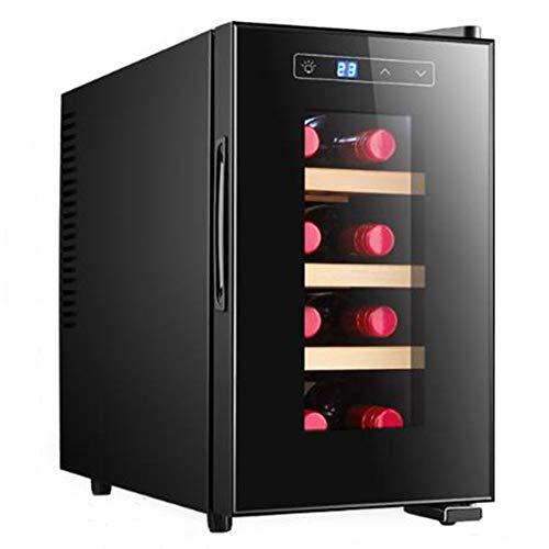 Premium Stainless Steel Thermoelectric Wine CoolerChiller Counter Top Wine Cellar wDigital Temperature Freestanding Refrigerator Glass Door Quiet Operation Fridge-verticalsolidwoodframe