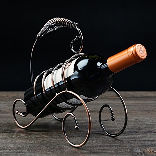 European-style wrought iron wine rack ornaments fashion home wine bottle rack creative display-A