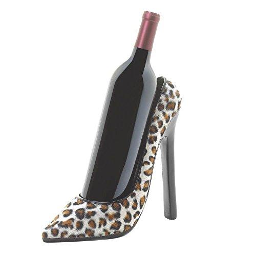 Home Wine Bottle Holder Leopard Shoe Tabletop Decorative Bottle Wine Holder