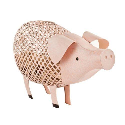 Cork Holders Country Cottage Pink Pig Metal Rustic Decorative Wine Corks Holder