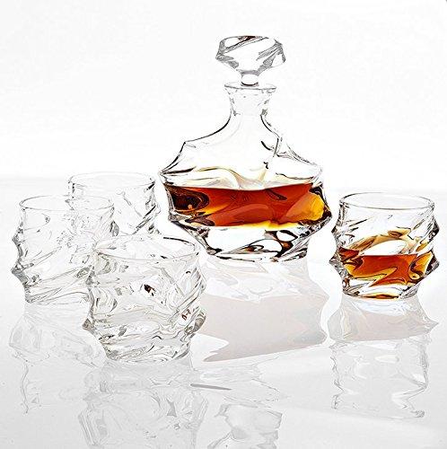 Glass Decanter Set of 5  Eichholtz Gatsby