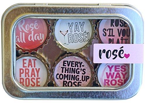 Kate Grenier Designs Rose Wine Bottle Cap Magnets