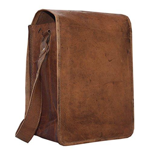 Royal Wine Carrier Bag - 2 Bottle Pockets - Vintage Genuine Leather Brown Attractive wine bag with Soft Denim padding