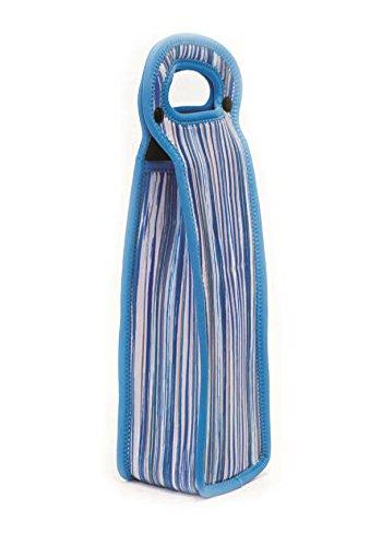 Zees Creations Single Bottle Neoprene Wine Tote Blue