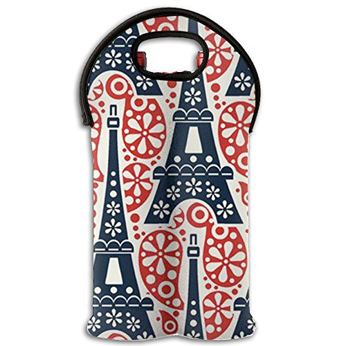 Eiffel Tower Personalized Wine Carrier 2 Bottle Tote Bag Sealed For Cold Soda rnBridal Shower Wine Tote And Carriers
