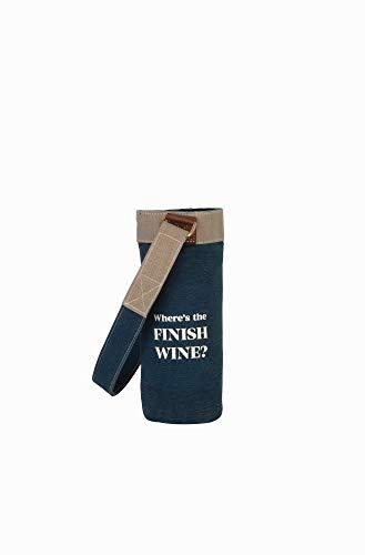 Mona B Finish Wine Upcycled Canvas Wine Bag M-5850