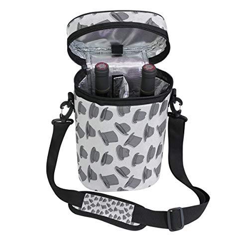 Jacksome Grey Wine Travel Carrier Cooler Bag - Chills 2 bottles of wine or champagne
