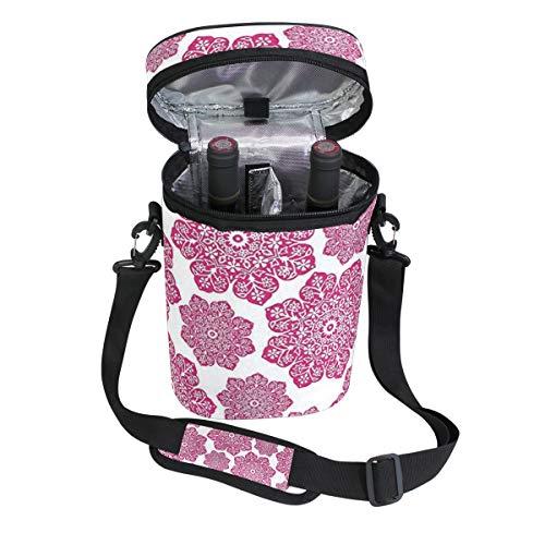 Jacksome Hot Pink Wine Travel Carrier Cooler Bag - Chills 2 bottles of wine or champagne