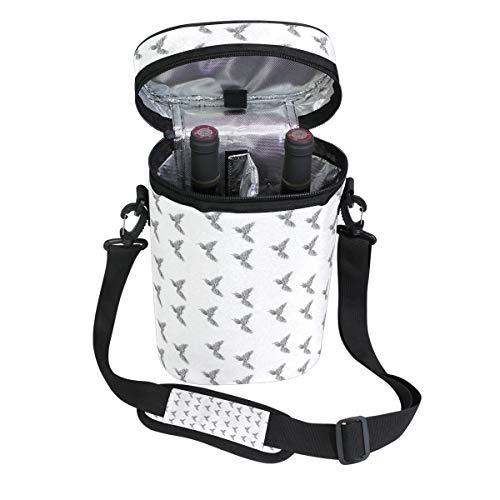Jacksome Phoenix Wine Travel Carrier Cooler Bag - Chills 2 bottles of wine or champagne