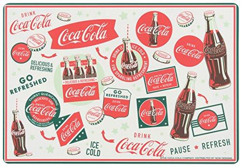 Now Designs Coca-Cola Signs and Slogans Plastic Placemat Set 4